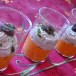 Verrines de mousses thon & poivron