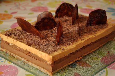 entremet chocolat caramel noisette