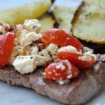 Steak à la grecque au barbecue