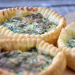 Tartelettes aux épinards et au fromage frais