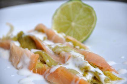 poireaux saumon crème citron