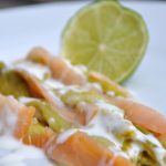 Poireau à la crème, saumon fumé et citron vert