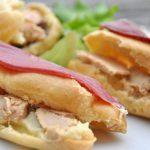 Eclairs salés : foie gras sur purée d'artichaut