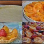 Tarte aux abricots et quelques fraises pour le fun !