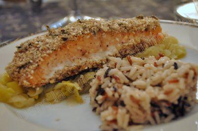 saumon croute noisette sesame 2