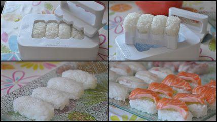 nigiri sushis saumon et dorade