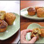 Muffins banane au coeur praliné