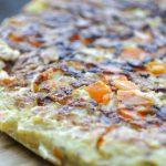 Frittata de poireaux, oignons et carottes