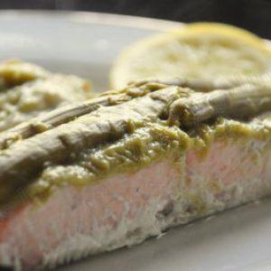 Papillotes de saumon aux asperges vertes