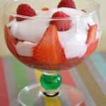 Rhubarbe, fraises, framboises, fromage blanc…