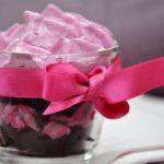 Ma Recette rose : verrine de cabillaud et betterave, chantilly de betterave