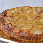 Tortilla aux oignons et aux poivrons (au four)
