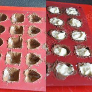 Chocolats maison au coeur coco