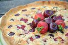 tarte amandine fraises cerises