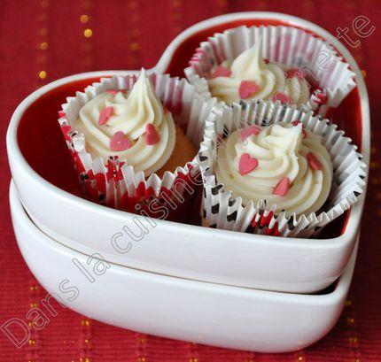 St valentin baby cupcake vanille