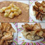 Crêpe en Aumonière, pommes caramélisées et confiture de lait