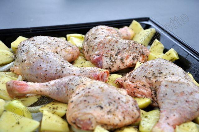 Cuisses de poulet marinées au sirop d'érable et cuites au four