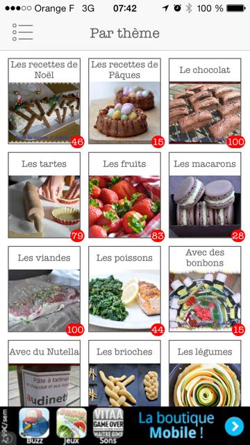 Une application Iphone pour La cuisine d'Audinette !