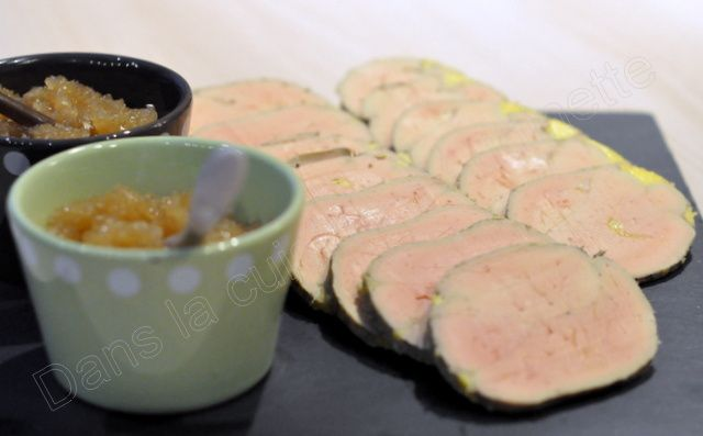 Foie gras cuit au four vapeur