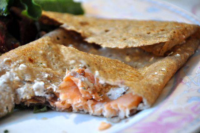 Deux idées de galettes salées : saumon-chèvre ou façon tartiflette