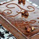 Entremets praliné chocolat et noisette