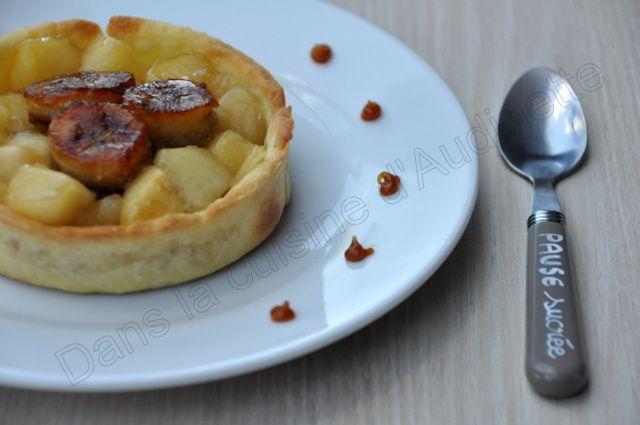 Tartelette aux pommes et bananes caramélisées pour le SBC 7