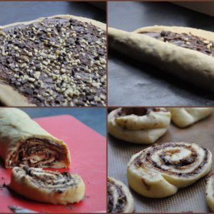Escargots briochés aux nutella et pépites de chocolat