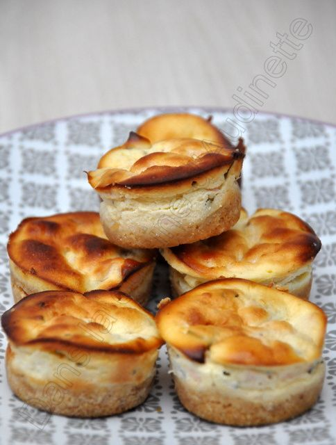 Mini cheese cakes au saumon fumé