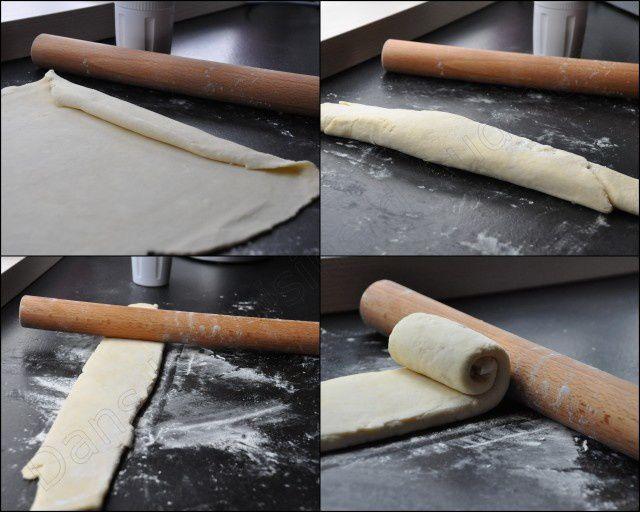 Pâte feuilletée super express au Cook'in avec pliage escargot