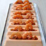 Mousse de gaspacho, coulis de piquillos et crevettes