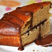 Gâteau au yaourt à la fève tonka fourré à la sauce chocolat - Dans la cuisine d'Audinette