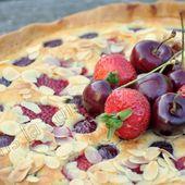 Tarte amandine aux cerises et aux fraises - Dans la cuisine d'Audinette