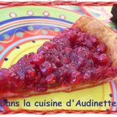 Tarte aux groseilles et framboises - Dans la cuisine d'Audinette