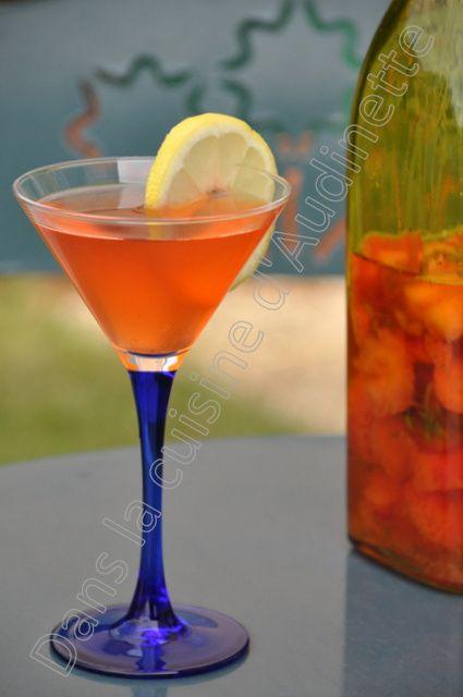 Eau de fraises au citron, anti-gaspi