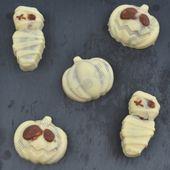Mousse chocolat noir dans coque chocolat blanc pour Halloween - Dans la cuisine d'Audinette