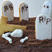 Gâteau cimetière pour Halloween - Dans la cuisine d'Audinette