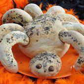 Pain araignée d'Halloween - Dans la cuisine d'Audinette