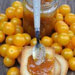 Confiture aux tomates cerises jaunes