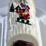 Bûche chocolat blanc et fruits rouges