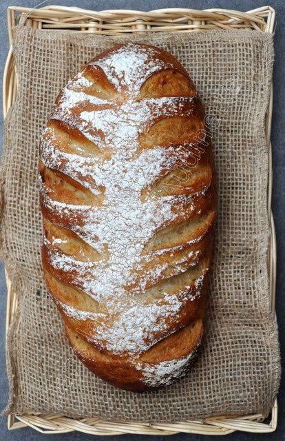 Pain chevron à la farine complète