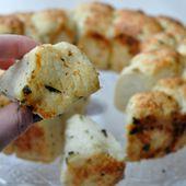 Pull Apart bread au parmesan, ail et basilic - Dans la cuisine d'Audinette