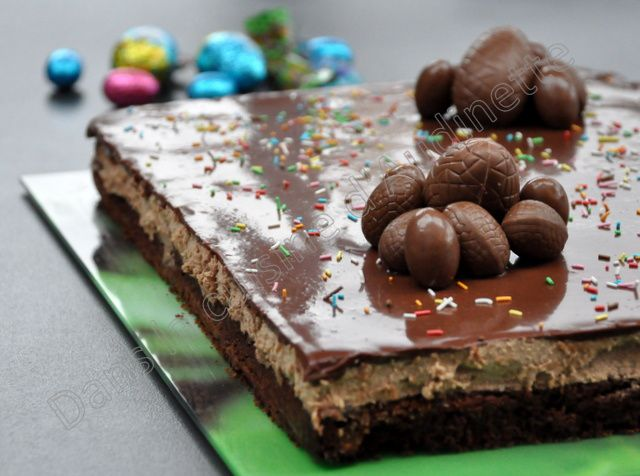 Entremet poire chocolat pour Pâques