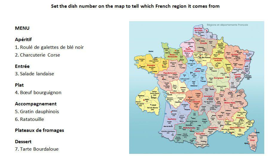"""Tarte Bourdaloue pour un menu à thème """"vive la France"""""""