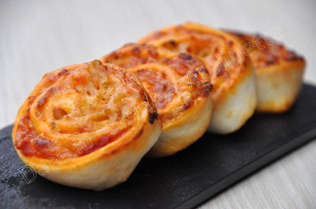 Escargots pizza au thon et à la tomate