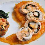 Ballotines de poulet aux crevettes et épinards