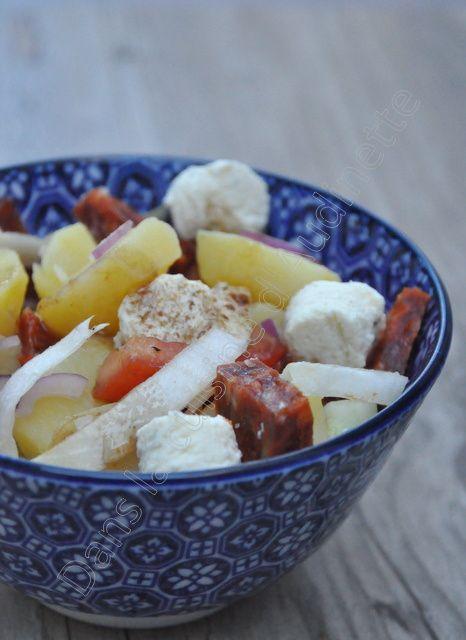Salade de pommes de terre au boursin et chorizo