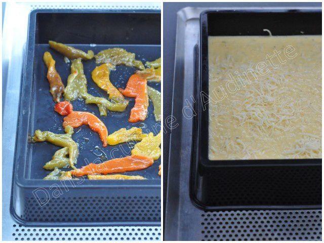Omelette au four aux poivrons confits