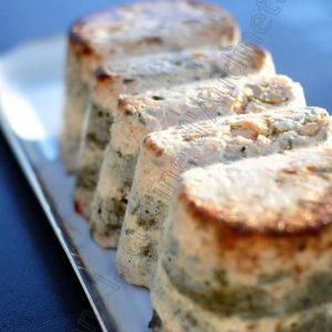 Terrine de saumon, saint-jacques et épinards