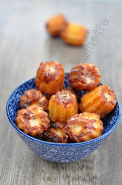 Mini cannelés au bacon