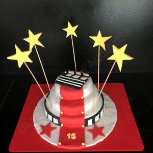 Gâteau thème cinéma hollywood